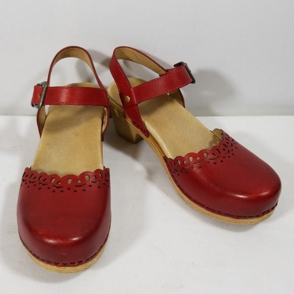 ab4b8fc47d7 Dansko Shoes - Dansko Marta Red Oiled Leather Clogs Shoes Size 37